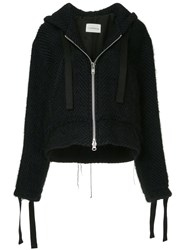 Song For The Mute Oversized Knitted Jacket Black