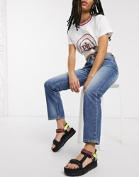 Pepe Jeans Mary Striaght Leg In Blue Light Wash