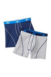 Adidas Climalite Performance Boxer Brief Pack Of 2 Blue