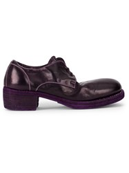 Guidi Chunky Lace Up Shoes Pink And Purple
