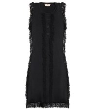 Edun Fringed Mini Dress Black