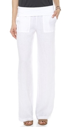 Solow Fold Over Pants White