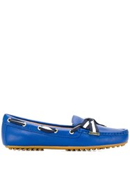 Lauren Ralph Lauren Striped Strap Loafers Blue