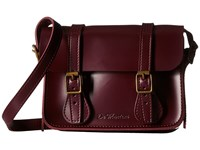 Dr. Martens 7 Leather Satchel Cherry Red Satchel Handbags