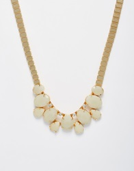 Paper Dolls Tiered Jewel Necklace Gold