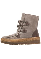 Gabor Laceup Boots Wallaby Vulcano Beige