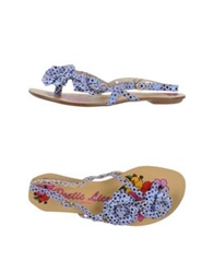 Poetic Licence Thong Sandals Blue