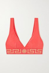 Versace Stretch Cotton Jersey Soft Cup Bra Red