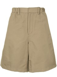 Undercover Wide Chino Shorts Brown
