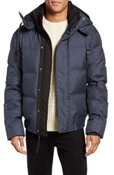 Andrew Marc New York Men's Coventry Quilted Down Bomber Jacket Ink