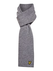 Lyle And Scott Classic Ribbed Scarf Grey