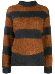 Roseanna Striped Jumper Brown