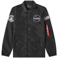 Alpha Industries Nasa Coach Jacket Black