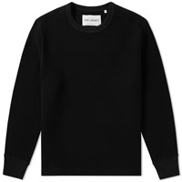 Our Legacy Splash Open Chunky Waffle Sweat Black