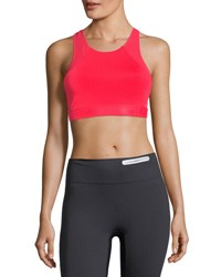 Under Armour Breathelux Mid Performance Sports Bra Red