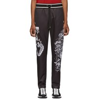 Dolce And Gabbana Black Collage Lounge Pants