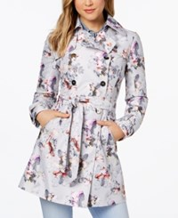 Guess Floral Print Belted Trench Coat