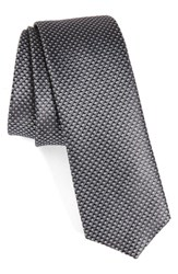 Hugo Men's Boss Geometric Silk Skinny Tie
