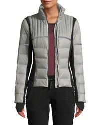 Blanc Noir Featherweight Reflective Down Puffer Jacket Gray Black