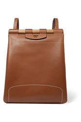 Tory Burch Dowel Leather Backpack Tan