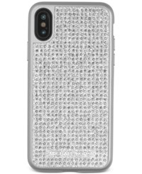Michael Kors Studded Iphone X Case Silver