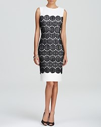 Anne Klein Dress Sleeveless Lace Overlay Sheath Camellia