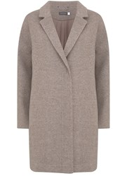 Mint Velvet Oatmeal Easy Coat White