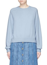 Vince Raglan Sleeve Cashmere Sweater Blue