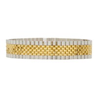 Alexander Wang Gold And Silver Watch Band Choker