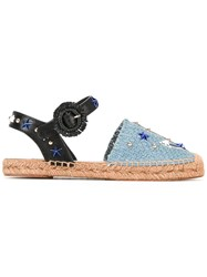 Dolce And Gabbana Anchor Espadrilles Blue