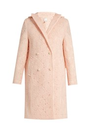 Huishan Zhang Axelia Cloud Lace Double Breasted Coat Light Pink
