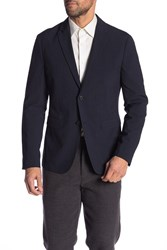 Theory Clinton Function Seersucker Suit Jacket Eclipse Check
