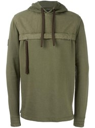 Blood Brother Zip Pocket Hoodie Green