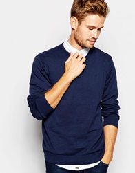 Blend Of America Blend Crew Knit Jumper Slim Fit In Navy