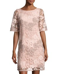 Taylor Floral Lace Shift Dress Light Pink