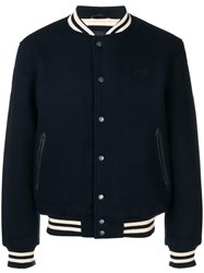 Schott Logo Patch Bomber Blue
