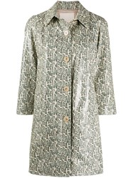 Drome Snakeskin Effect Point Collar Coat 60