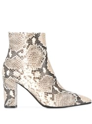 The Seller Snake Print Ankle Boots Brown