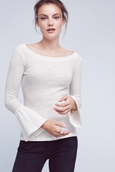 Anthropologie Seville Bell Sleeve Tee White