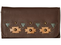 American West Chenoa Trifold Wallet Chocolate Wallet Handbags Brown