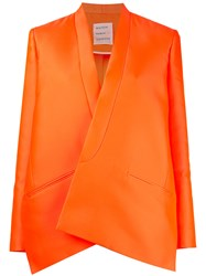 Maison Rabih Kayrouz Oversized Blazer Yellow Orange