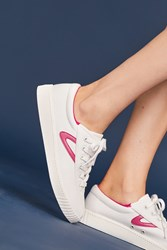 Anthropologie Tretorn Pink Check Sneakers