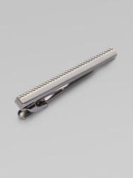 Tateossian Grid Tie Bar Gunmetal