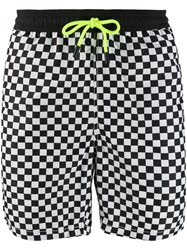 Mc2 Saint Barth Checkered Swim Shorts Black
