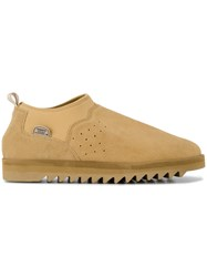 Suicoke Sherpa Slip On Shoes Calf Leather Modacrylic Rubber Nude Neutrals
