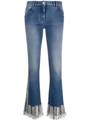 Balmain Fringed Low Rise Flared Jeans 60