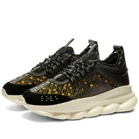 Versace Safety Pin Chain Reaction Sneaker Black