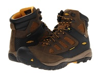 Keen Utility Tucson Mid Pr Soft Toe Black Olive Golden Yellow Men's Work Lace Up Boots Brown