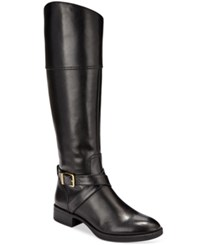 Sam Edelman Circus By Parker Buckle Tall Riding Boots Women's Shoes Black