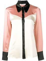 L'autre Chose Western Panel Shirt Pink